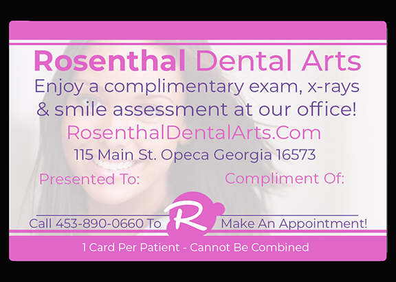 Plastic Dental Referral Card templates
