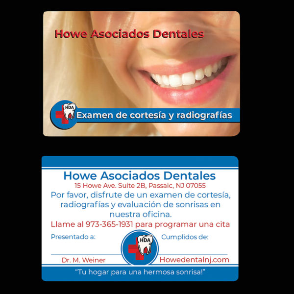 spanish dental referral cards